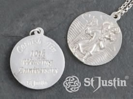 10th-anniversary-tin-st-christopher-pendant
