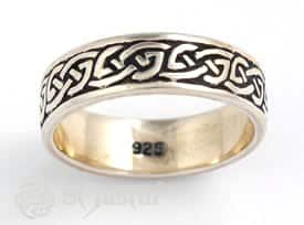 Celtic-endless-knot-streking-silver-ring