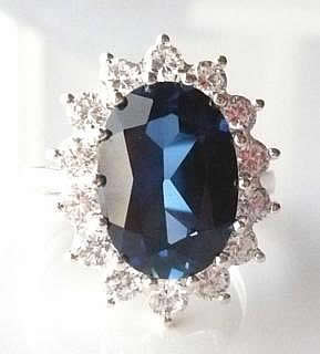 large-lab-sapphire-diana ring-w