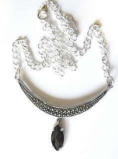 marcasite-smoky-quartz-necklace