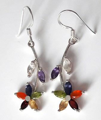 multistone-flower-earrings