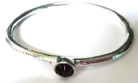 pewter-bangle-with-red-stone
