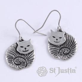 pewter-fat-cat-earrings