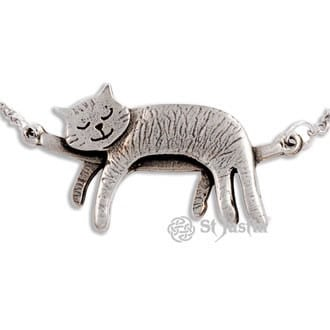 pewter-sleeping-cat-necklace