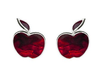 red-shell-apple-studs