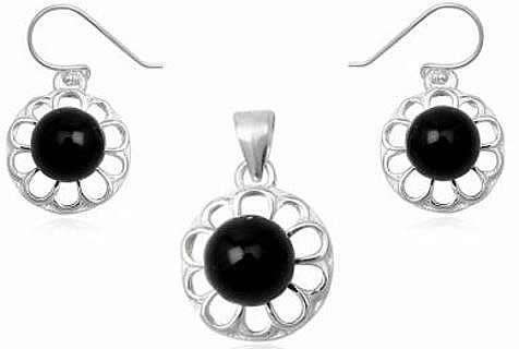 silver-and-onyx-round-bead-set