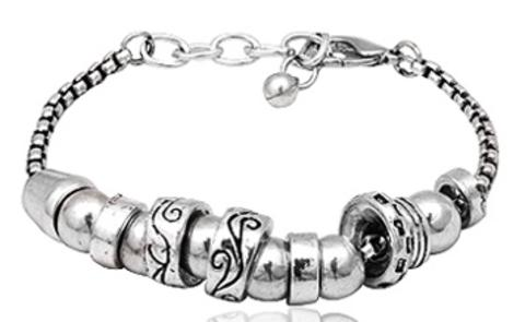 silver-plated-beads-bracelet