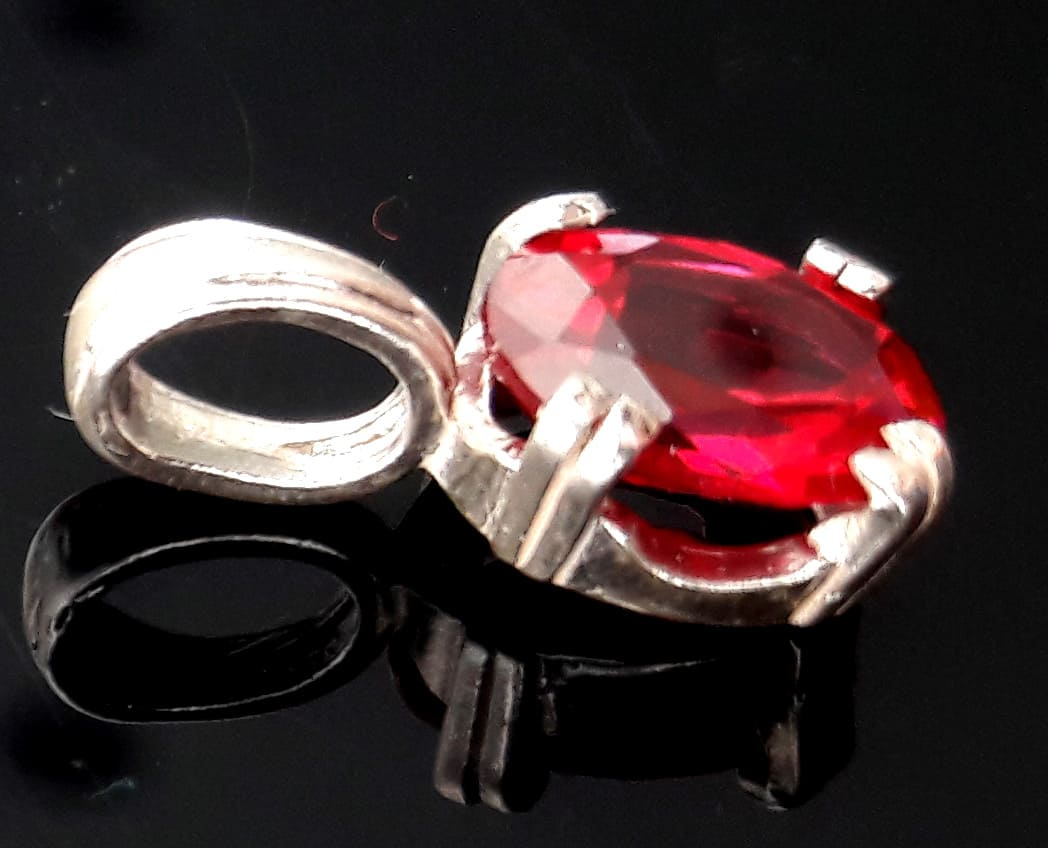 split claw lab ruby pendant