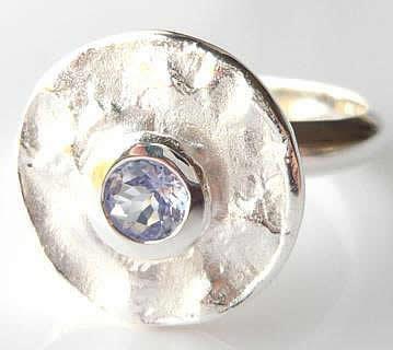 tanzanite-disc-ring