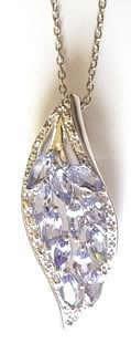tanzanite-leaf-shape-pendant
