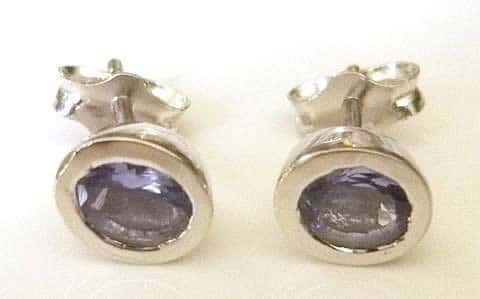 tanzanite-studs-oval