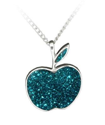 turquoise-glitter-apple-pendant