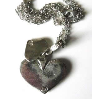 two-pewter-heart-necklace