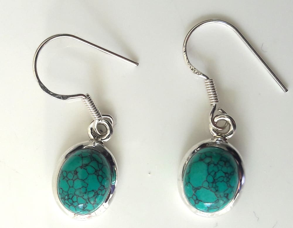 Oval turquoise drops 1