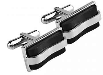 stainless steel rectangular bar cufflinks