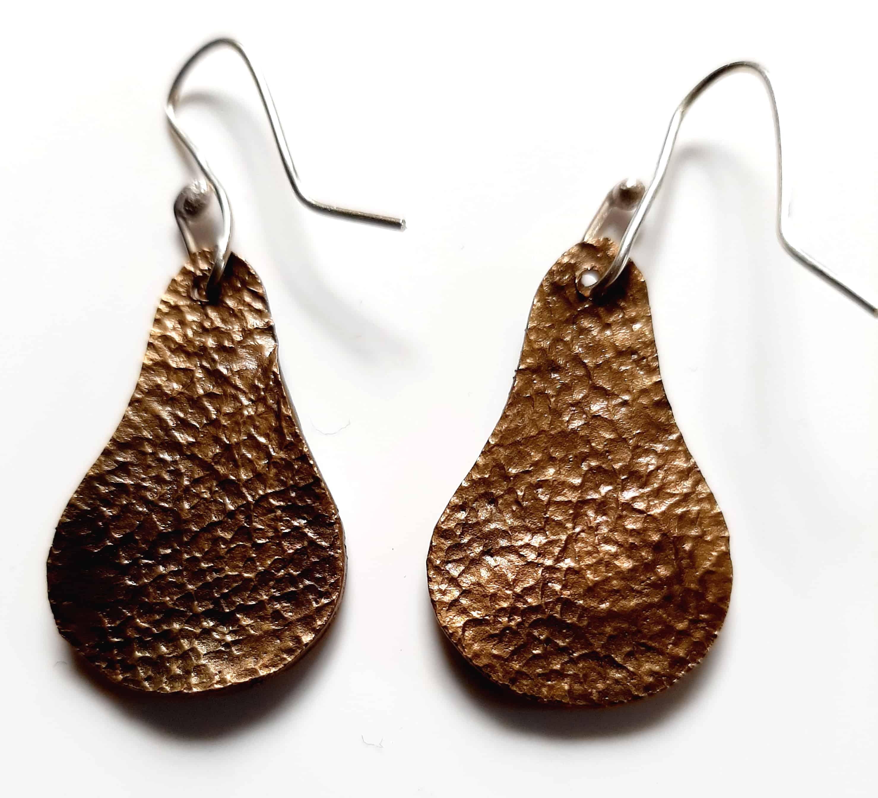 vine drop earrings leather side